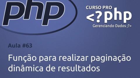 Função para realizar paginação dinâmica de resultados com PHP