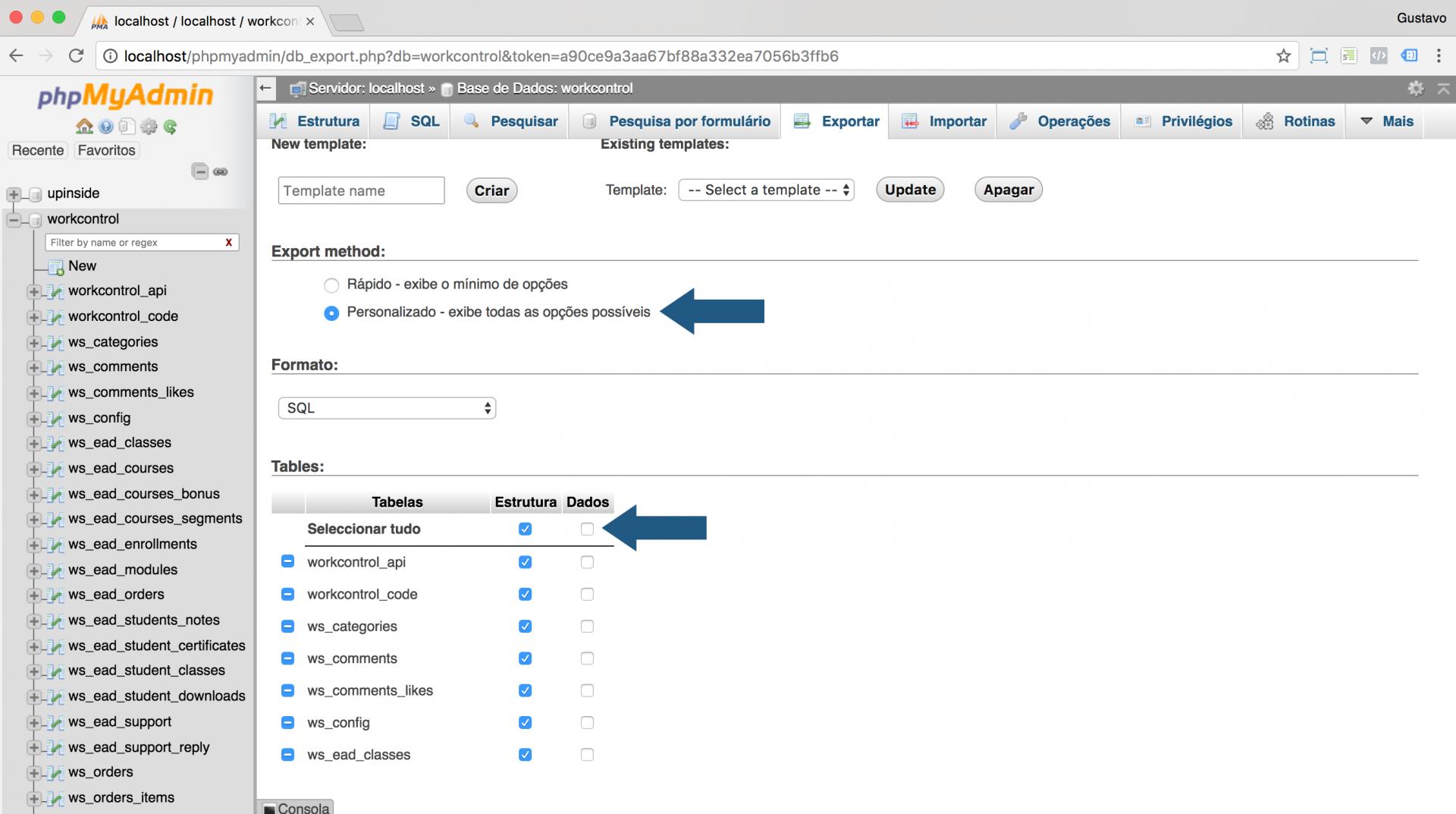 Versione seu banco de dados junto a aplicação para ter um backup full