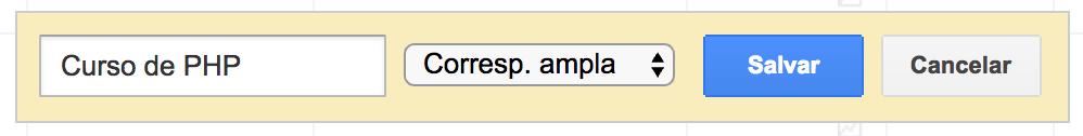 O que significa correspondência ampla, de frase, exata e negativa no Google AdWords