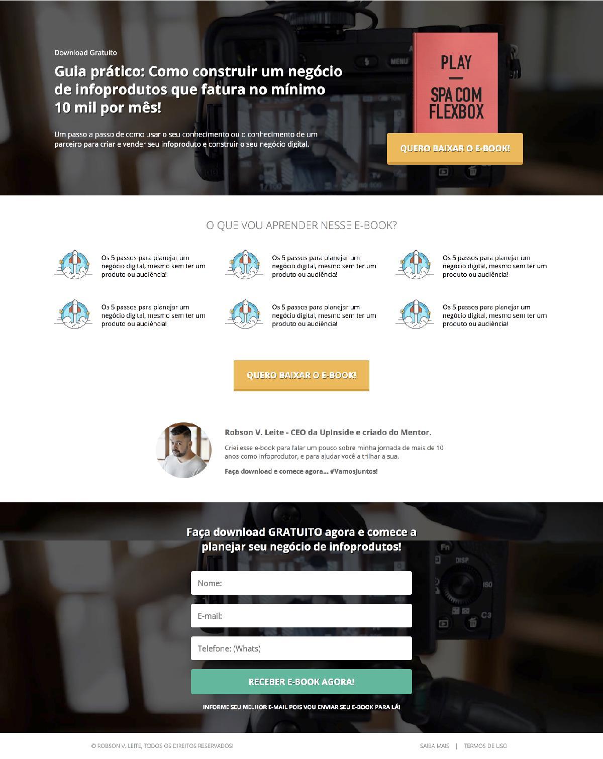 Single-page application com CSS FlexBox e design responsivo